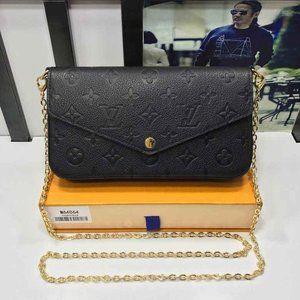 NWT Pochette 3 IN 1 SET SLING BAG L BLACK V m64064
